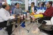 بازدید مسئولین آب و فاضلاب استان مرکزی از غرفه شرکت آبرسان طلوع بهاررود