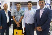 بازدید مسئولین شرکت مشاورو مهندسین مهاب قدس در غرفه شرکت آبرسان طلوع بهاررود