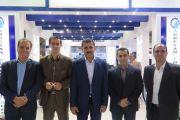 بازدید مسئولین آب و فاضلاب استان کرمانشاه از غرفه شرکت آبرسان طلوع بهاررود